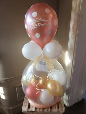 Stuffer ballon voor communie gevuld met geld