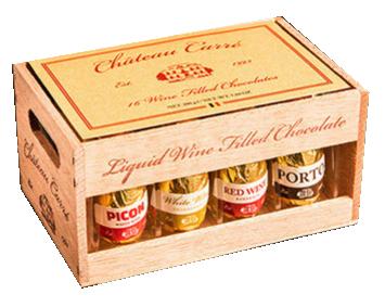 Kistje Wijnpralines Chateau Carré 200gr.