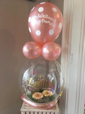 Aqua ballon met bloemen