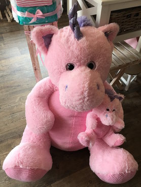Reuze unicorn met baby