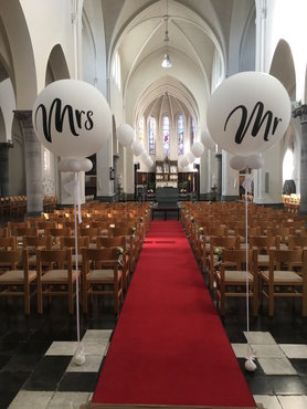 Ballondecoratie ballon huwelijk 90cm Mr of Mrs.