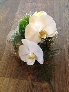 Mini Bloemstukje met orchidee