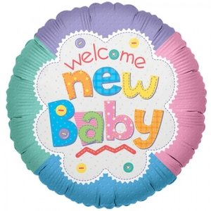 Welcome new baby 9inch - 22cm