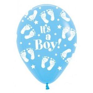 Ballon latex 12inch (30cm) its a boy footprint
