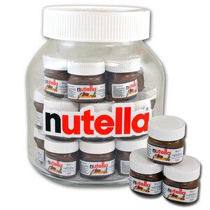 XXL pot nutella gevuld met 21 x 30gr mini nutella