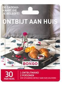 Bongo cadeaukaart ontbijt aan huis