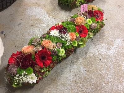 6 - bloemstuk lang smal diverse kleuren
