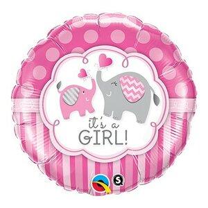 Folieballon it's a girl 18 inch = 46cm dubbelzijdig bedrukt