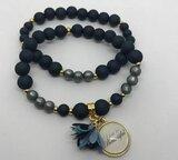 Armband mat blue / grey_
