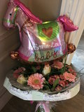 Boeket geboorte met gepersonaliseerde ballon_