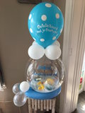 Aqua ballon communie met badeendjes en 25 euro cash geld_