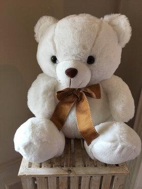 teddybeer wit 35cm
