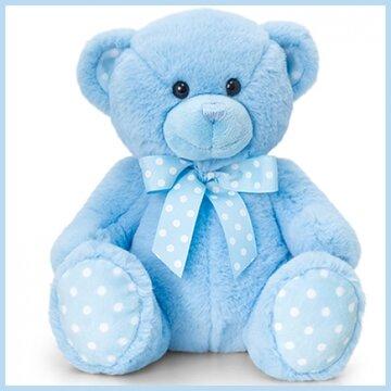 Knuffelbeer 25cm spotte bear blue