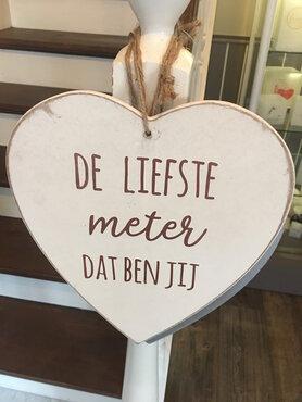 hanger hart met tekst naar keuze
