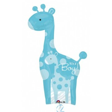 Folieballon giraf boy 42 inch = 106cm dubbelzijdig bedrukt
