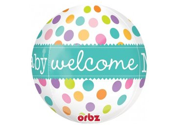 Ballon Orbz 16 x 16 inch Welcome baby