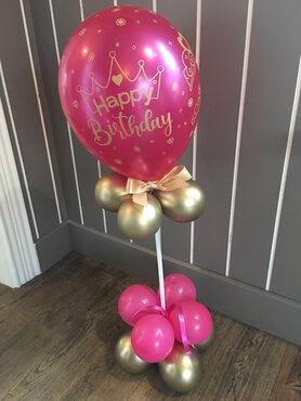 Ballonstaander tafeldecoratie verjaardag