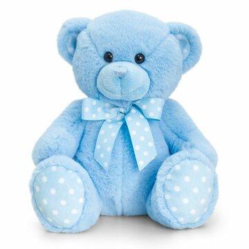 Spotty bear blue 35cm