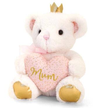 Bear with heart Mum 20cm