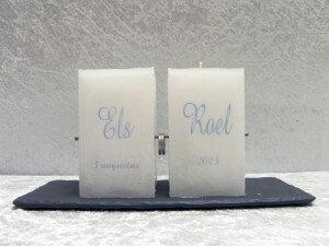 huwelijkskaars model 7 - duo 7.5 x 7.5 x 13cm
