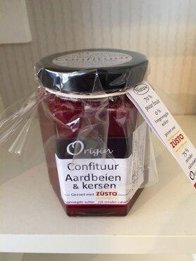 Confituur Aardbeien en kersen 210ml