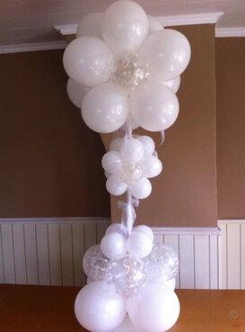 Ballonstaander bloemvorm huwelijk 120cm
