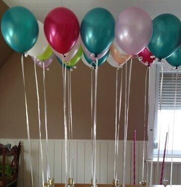 ballon 11 inch gevuld met helium en high float (houdbaarheid 1 week)