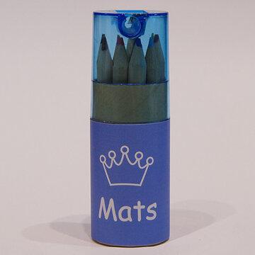 koker kleurpotloden blauw groot met wikkel