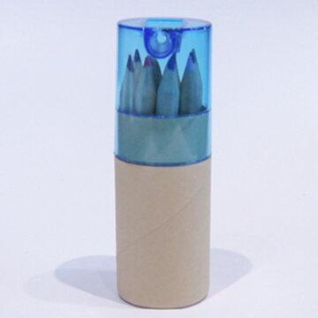 koker kleurpotloden blauw groot zonder wikkel