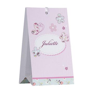 Vlinder roze Driehoeksdoosje