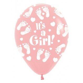 Ballon latex 12inch (30cm) its a girl footprint