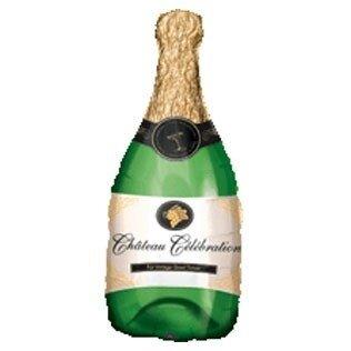 Folieballon champagne fles 36inch/91cm