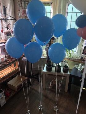 Latexballon 30cm gevuld met helium + houdbaarheidsgel - babyblauw