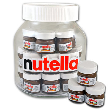 XXL pot nutella gevuld met 21 x 30gr mini nutella