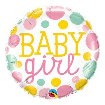 Folieballon Baby Girl 18 inch = 46cm dubbelzijdig bedrukt