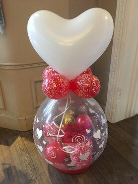 5 - Ballon gevuld met lekkernijen Valentijn
