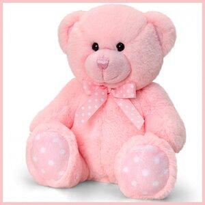 Knuffelbeer 25cm spotte bear pink