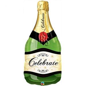 Folieballon champagnefles celebrate 40 inch = 102cm