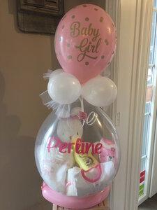 Opgevulde Ballon geboorte met naam